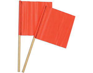 Traffic flags - orange