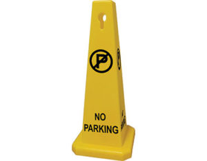 Portable no parking cone
