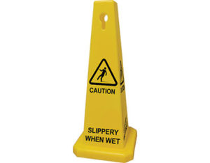 Slippery when wet cone