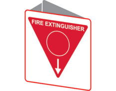 extinguisher triangle sign