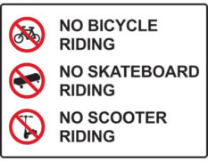 No skateboard sign
