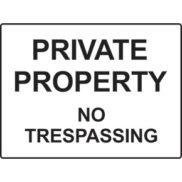 Facilities signs - property and buildings