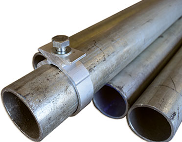 Road sign posts - galvanised steel tubular posts from Global