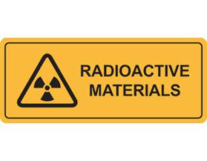 radioactive materials warning sign