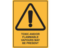 flammable vapours sign