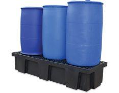 Drum bunds - three drum spill containment