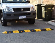 Heavy duty speed humps in carpark