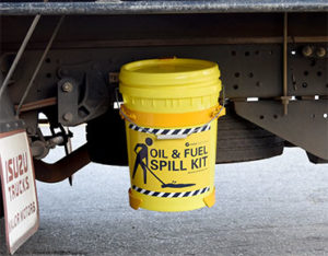 Truck mounted spill kit