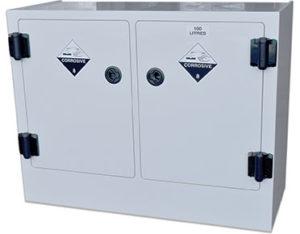 Poly corrosive storage cabinet - 100L