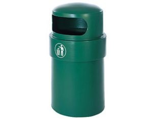 Bird-proof plastic litter bin 90L