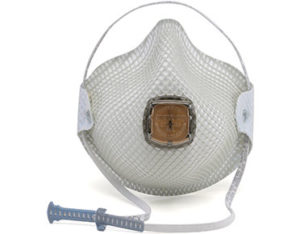 Disposable valved respirator with HandyStrap