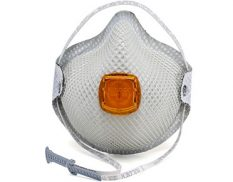 Disposable organic vapour respirator with valve and HandyStrap