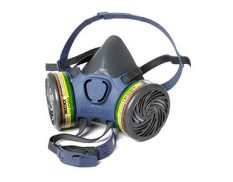 Half-mask reusable respirator pack with cartridges