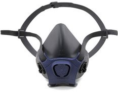 Half-mask reusable respirator facepiece