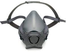 Half-mask reusable silicone respirator facepiece