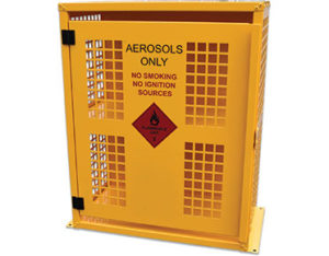 Aerosol safety storage cage - 64 can