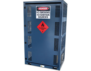 Forklift gas cage - store up to 12 cylinders