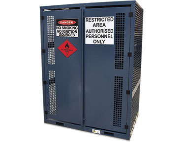High pressure gas bottle storage cage - 16x cylinders flammable