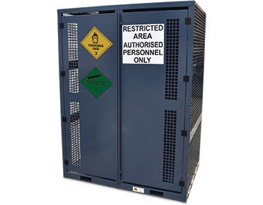 High pressure gas bottle storage cage - 16x cylinders non-flammable
