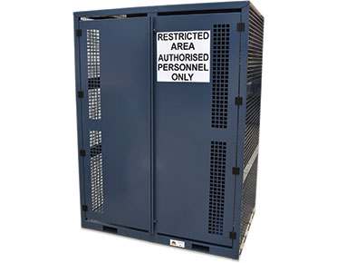 High pressure gas bottle storage cage - 16x cylinders