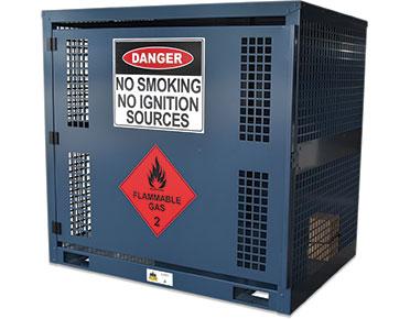 Forklift gas bottle storage cage - 6x cylinders