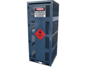 Forklift gas storage cage - 8x cylinders
