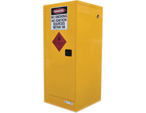 Flammables safety storage cabinet for 205L drum