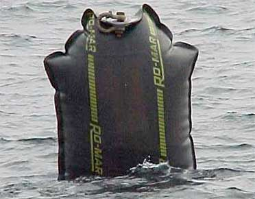Ro-Mar temporary buoy or fender