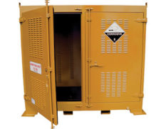 Outdoor dangerous goods store - safely and securely store up to 650L