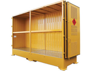 Outdoor IBC stores for flammable liquids 8000L