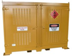 Outdoor dangerous goods store - safely and securely store up to 850L