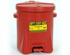 Safety cans and oily waste bins