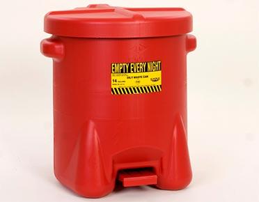 Oily waste bin