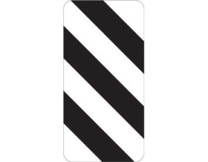Left width marker - class 1 retroreflective Australian standard aluminium or metal parking sign