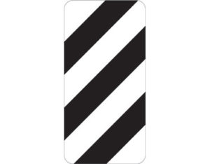 Right width marker - class 1 retroreflective Australian standard aluminium or metal parking sign