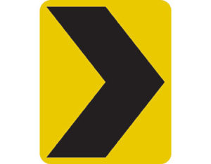 Chevron marker - class 1 retroreflective Australian standard aluminium or metal parking sign