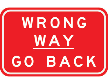 wrong way sign by australian standards global spill control
