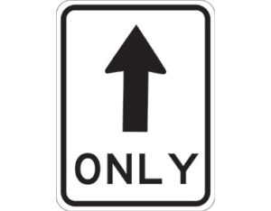 Road sign - no turn sign - text ONLY with black arrow