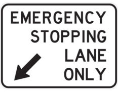 Emergency stopping lane sign - class 1 retroreflective Australian standard aluminium or metal parking sign