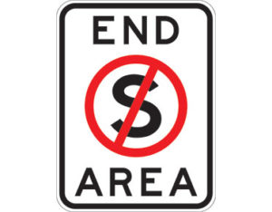 No stopping area sign - class 1 retroreflective Australian standard aluminium or metal parking sign