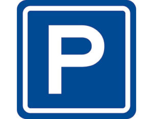 Parking sign - class 1 retroreflective Australian standard aluminium or metal parking sign