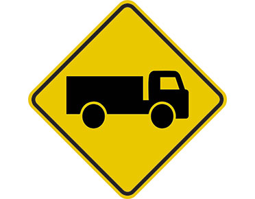 Yellow Truck Sign By Australian Standards Global Spill Control