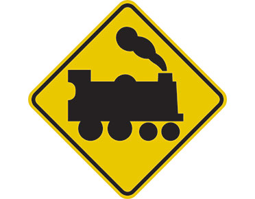 Railway crossing sign by Australian Standards - Global Spill