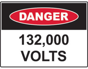 danger 132,000 volts