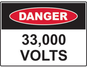 Danger 33,000 volts
