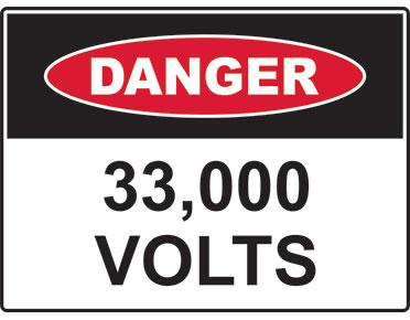 Danger 33,000 volts