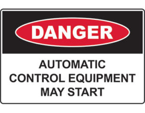 Danger automatic control equipment may start - by Global Spill Control