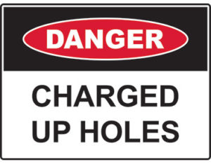 charged up holes sign