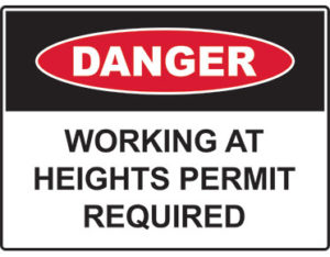heights permit sign