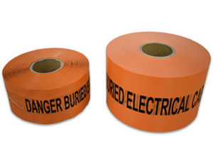 Underground electrical tape - danger buried electrical cable below